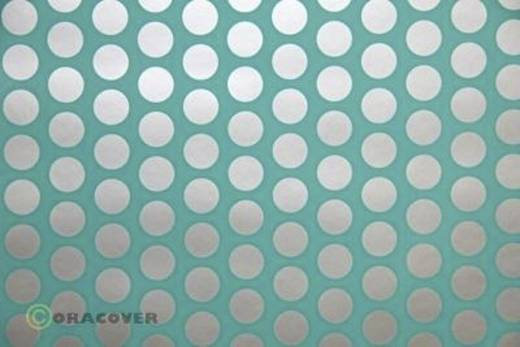 Bügelfolie Oracover Fun 1 41-017-091-010 (L x B) 10 m x 60 cm Türkis-Silber