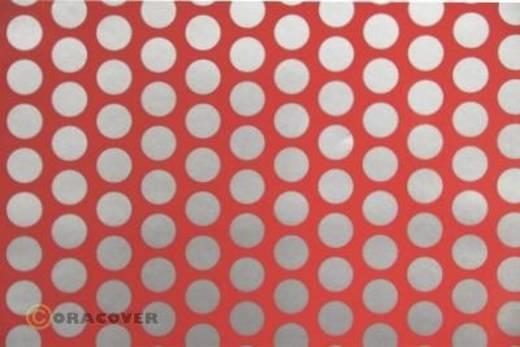 Bügelfolie Oracover Fun 1 41-021-091-010 (L x B) 10 m x 60 cm Rot-Silber (fluoreszierend)