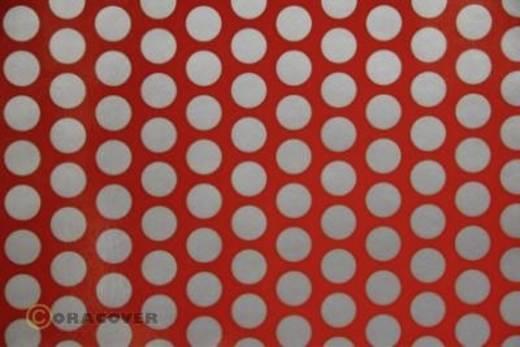 Bügelfolie Oracover Fun 1 41-022-091-010 (L x B) 10 m x 60 cm Hell-Rot-Silber