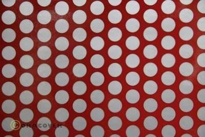 Oracover Bügelfolie Ferri-Rot 023 Bespannfolie Folie 1m Ferrirot
