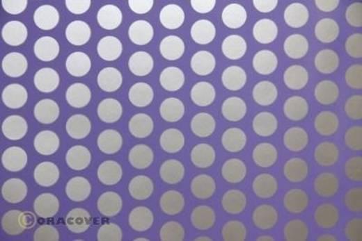Bügelfolie Oracover Fun 1 41-055-091-010 (L x B) 10 m x 60 cm Lila-Silber