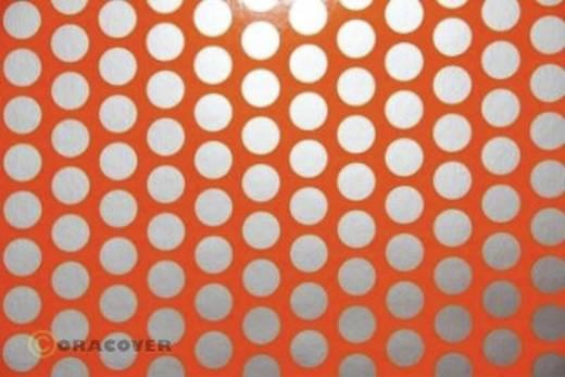 Bügelfolie Oracover Fun 1 41-064-091-010 (L x B) 10 m x 60 cm Rot-Orange-Silber (fluoreszierend)