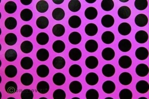 Bügelfolie Oracover Fun 1 41-014-071-010 (L x B) 10 m x 60 cm Neon-Pink-Schwarz (fluoreszierend)