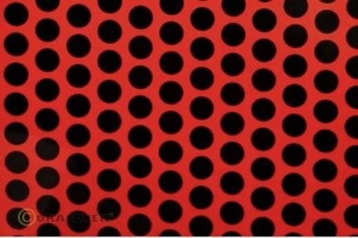 Bügelfolie Oracover Fun 1 41-021-071-010 (L x B) 10 m x 60 cm Rot-Schwarz (fluoreszierend)