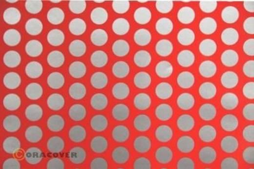 Klebefolie Oracover Orastick Fun 1 45-021-091-002 (L x B) 2 m x 60 cm Rot-Silber (fluoreszierend)