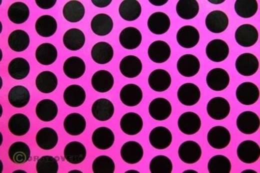 Klebefolie Oracover Orastick Fun 1 45-014-071-010 (L x B) 10 m x 60 cm Neon-Pink-Schwarz (fluoreszierend)