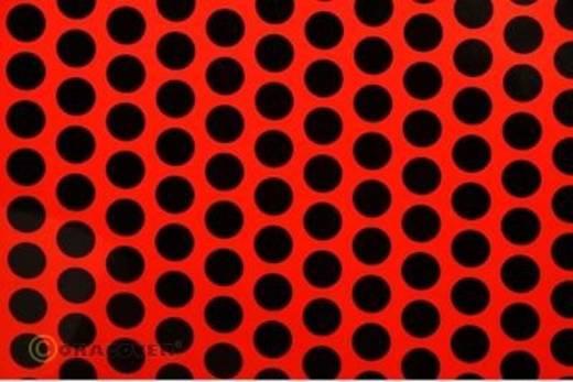 Klebefolie Oracover Orastick Fun 1 45-021-071-010 (L x B) 10 m x 60 cm Rot-Schwarz (fluoreszierend)