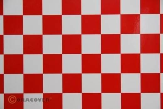 Bügelfolie Oracover Fun 43-010-023-002 (L x B) 2000 mm x 600 mm Weiß-Rot