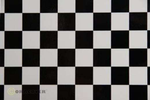 Bügelfolie Oracover Fun 3 43-010-071-010 (L x B) 10000 mm x 600 mm Weiß-Schwarz