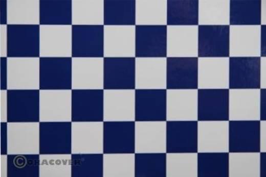 Bügelfolie Oracover Fun 3 43-010-052-010 (L x B) 10 m x 60 cm Weiß-Dunkelblau