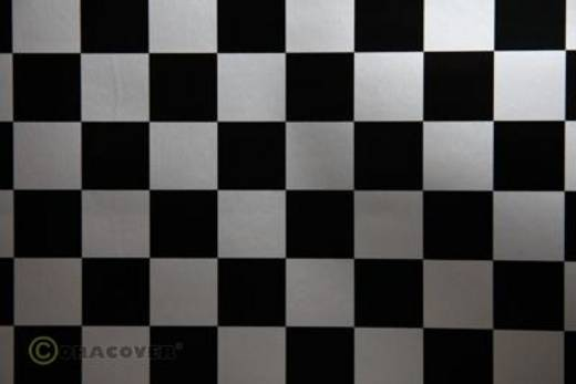 Bügelfolie Oracover Fun 3 43-091-071-002 (L x B) 2 m x 60 cm Silber-Schwarz