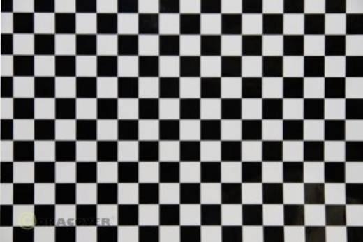 Bügelfolie Oracover Fun 4 44-010-071-010 (L x B) 10 m x 60 cm Weiß-Schwarz