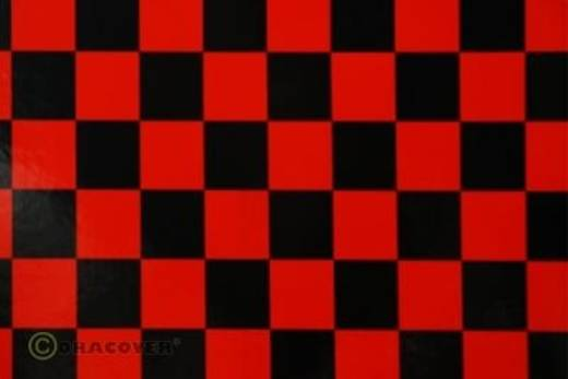 Bügelfolie Oracover Fun 43-023-071-002 (L x B) 2000 mm x 600 mm Rot-Schwarz