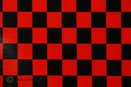 Bügelfolie Oracover Fun 43-023-071-010 (L x B) 10000 mm x 600 mm Rot-Schwarz