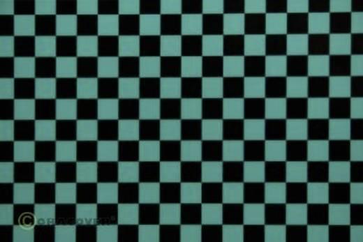 Bügelfolie Oracover Fun 4 44-017-071-010 (L x B) 10 m x 60 cm Türkis-Schwarz