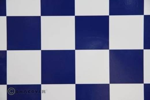 Bügelfolie Oracover Fun 491-010-052-002 (L x B) 2000 mm x 600 mm Weiß-Dunkelblau