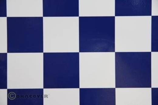 Bügelfolie Oracover Fun 491-010-052-010 (L x B) 10000 mm x 600 mm Weiß-Dunkelblau