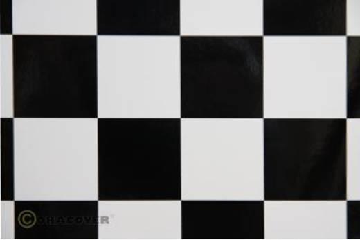 Bügelfolie Oracover Fun 491-010-071-002 (L x B) 2000 mm x 600 mm Weiß-Schwarz