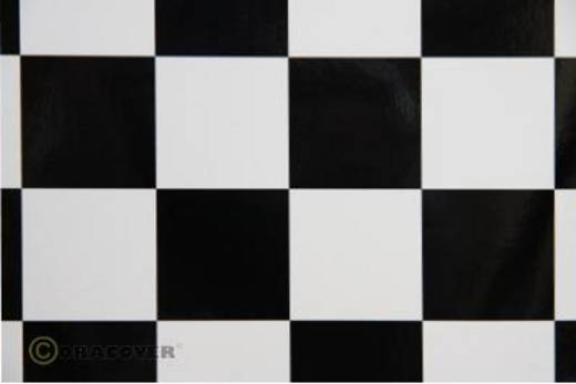 Bügelfolie Oracover Fun 491-010-071-010 (L x B) 10000 mm x 600 mm Weiß-Schwarz