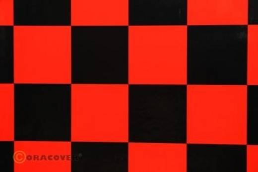 Bügelfolie Oracover Fun 491-023-071-010 (L x B) 10000 mm x 600 mm Rot-Schwarz