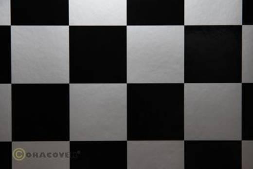 Bügelfolie Oracover Fun 491-091-071-002 (L x B) 2000 mm x 600 mm Silber-Schwarz