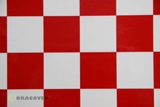 Bügelfolie Oracover Fun 491-010-023-010 (L x B) 10000 mm x 600 mm Weiß-Rot