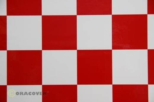 Bügelfolie Oracover Fun 5 491-010-023-010 (L x B) 10 m x 60 cm Weiß-Rot