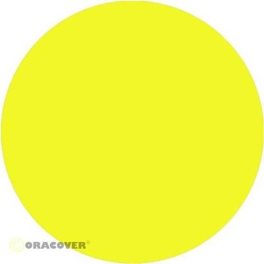 Bügelfolie Oracover 21-035-010 (L x B) 10 m x 60 cm Gelb (transparent-floureszierend)