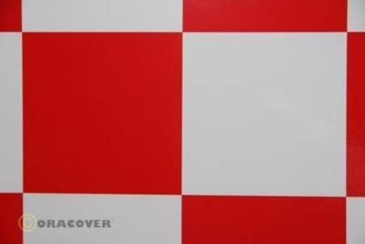 Bügelfolie Oracover Fun 6 691-010-023-010 (L x B) 10 m x 60 cm Weiß-Rot