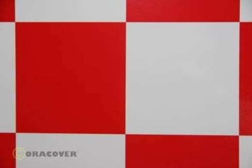 Bügelfolie Oracover Fun 6 691-010-023-010 (L x B) 10000 mm x 600 mm Weiß-Rot