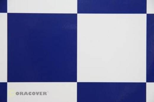 Bügelfolie Oracover Fun 6 691-010-052-010 (L x B) 10000 mm x 600 mm Weiß-Dunkelblau