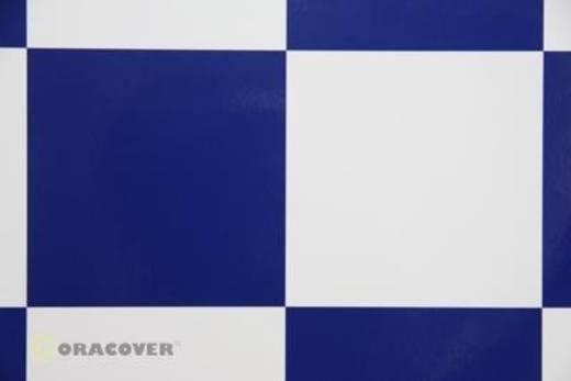 Bügelfolie Oracover Fun 691-010-052-010 (L x B) 10000 mm x 600 mm Weiß-Dunkelblau