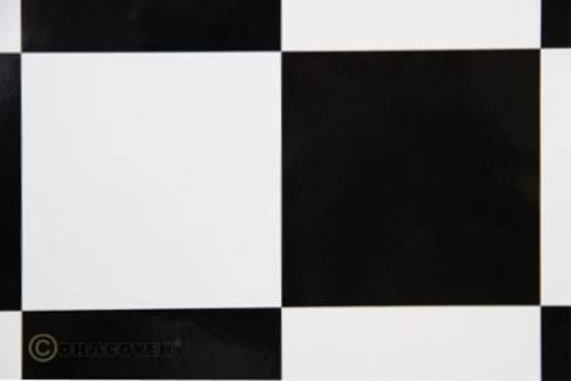 Bügelfolie Oracover Fun 6 691-010-071-010 (L x B) 10 m x 60 cm Weiß-Schwarz