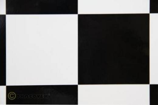 Bügelfolie Oracover Fun 691-010-071-010 (L x B) 10000 mm x 600 mm Weiß-Schwarz