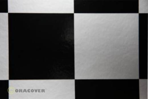 Bügelfolie Oracover Fun 691-091-071-010 (L x B) 10000 mm x 600 mm Silber-Schwarz