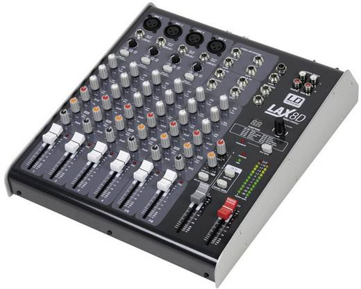 Konsolen-Mischpult LD Systems LAX8D Anzahl Kanäle:8