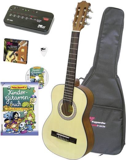 Konzertgitarren-Set Voggenreiter Barn 3/4 Natur inkl. Tasche