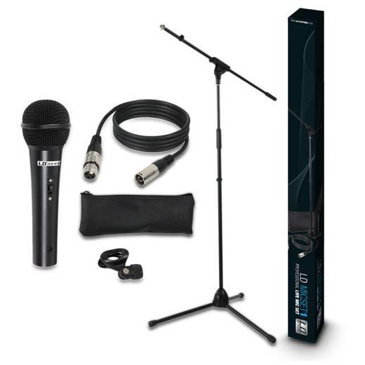 Hand Mikrofon-Set LD Systems MICSET1 Übertragungsart:Kabelgebunden inkl. Kabel, inkl. Stativ, inkl. Klammer, inkl. Tasche