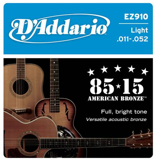 Westerngitarrensaite D´Addario EZ910 Light 011-052