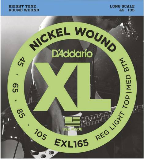 E-Bass-Saite D´Addario EXL170-5 Regular Light 045-105