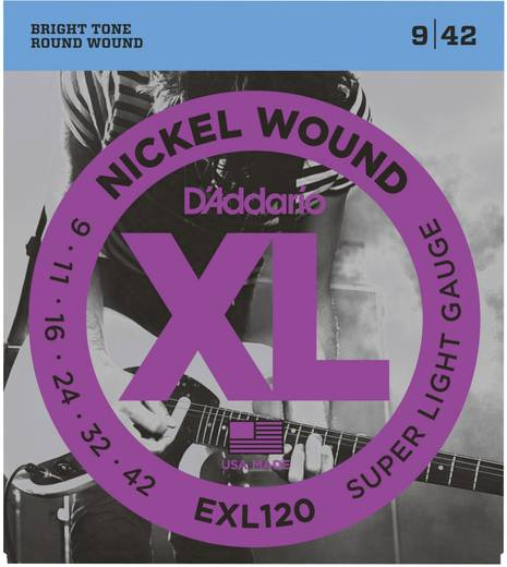 E-Gitarrensaiten D´Addario EXL120 Super Light 009-042