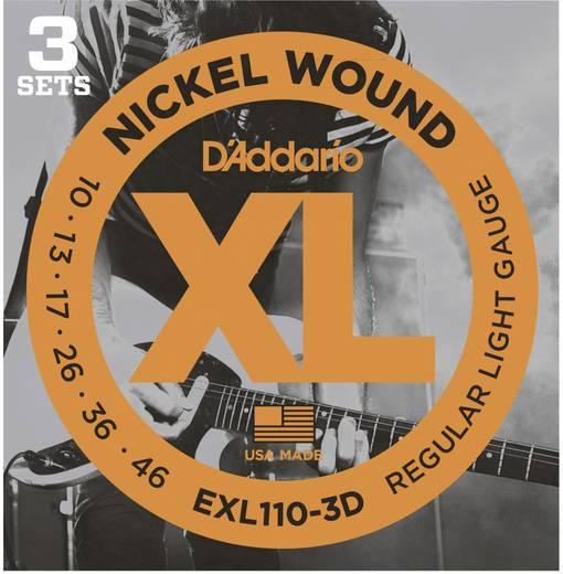 E-Gitarrensaiten D´Addario EXL110-3D 010-046 3er Set