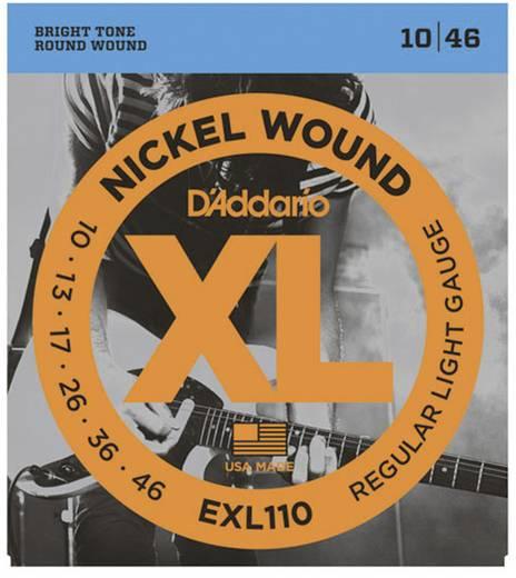 E-Gitarrensaiten D´Addario EXL110 Regular Light 010-046