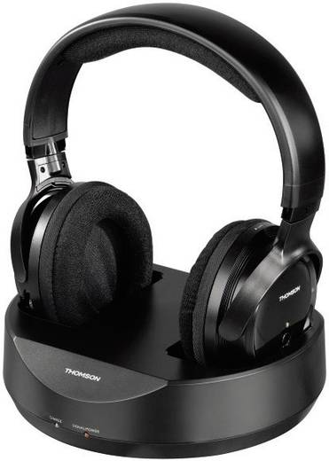 Funk Kopfhörer Thomson WHP3777 Over Ear Lautstärkeregelung Schwarz