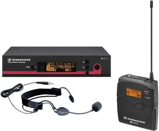 Headset Funkmikrofon-Set Sennheiser ew 152 G3-1G8 Übertragungsart:Funk