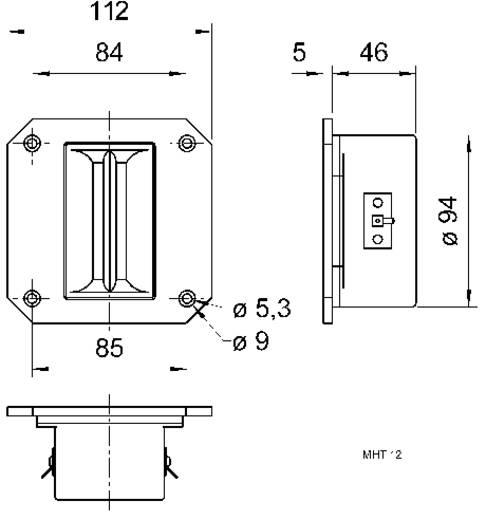 Visaton MHT 12 Bändchen-Hochtöner 150 W 8 Ω