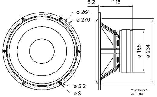 Visaton TIW 250 XS 10 Zoll 25.4 cm Lautsprecher-Chassis 200 W 8 Ω