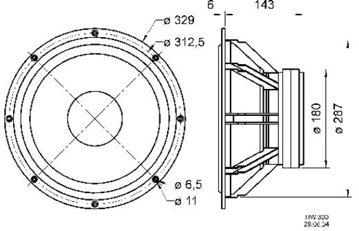 Visaton TIW 300 12 Zoll 30.48 cm Lautsprecher-Chassis 300 W 8 Ω