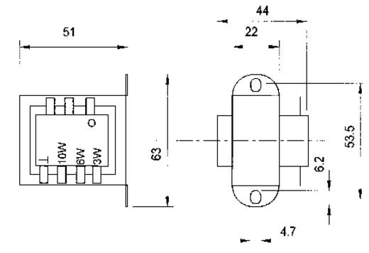ELA-Transformator 10 W, 6 W, 3 W Visaton TR 84
