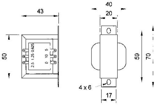 ELA-Transformator Visaton TR 10.16